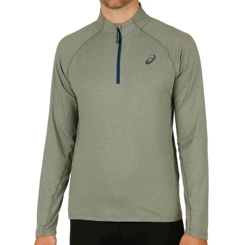 Asics Half Zip Jersey Long Sleeve Men - Olive