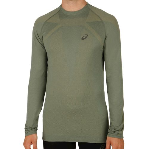 Asics Seamless Long Sleeve Men - Olive