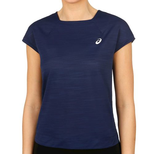Asics T-Shirt Women - Dark Blue, White