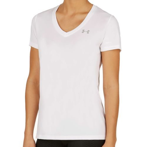 Under Armour Tech Solid T-Shirt Women - White, Silver