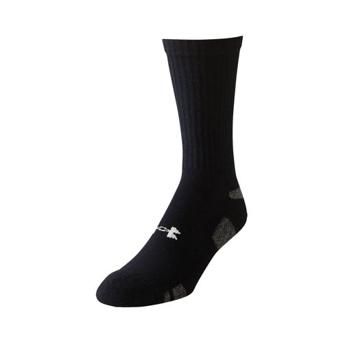 Under Armour Heatgear Crew Pack Tennis Socks 3 Pack - Black