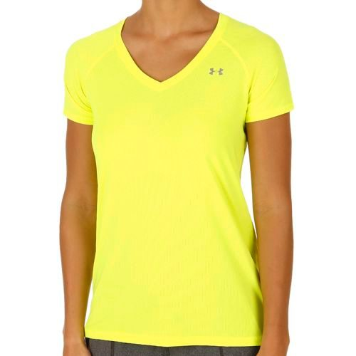 Under Armour Heatgear T-Shirt Women - Yellow, Silver