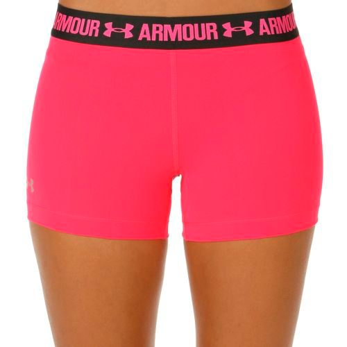 Under Armour Heatgear Shorty Shorts Women - Red, Silver