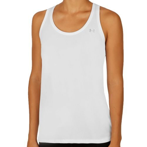 Under Armour Tech Tank Top Women - White, Silver