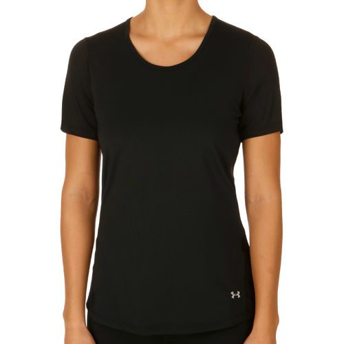 Under Armour Heatgear Coolswitch Short Sleeve Women - Black, Silver
