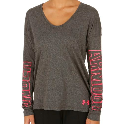 Under Armour Favorite Logo Long Sleeve Women - Grey, Red