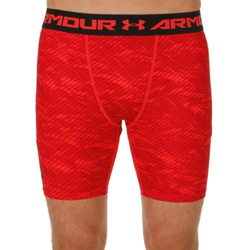Under Armour Heatgear Armour Printed Compression Shorts Men - Red, Black