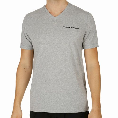 Under Armour Charged Cotton V-Neck T-Shirt Men - Grey, Black