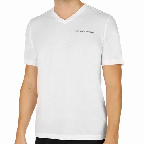 Under Armour Charged Cotton V-Neck T-Shirt Men - White, Grey