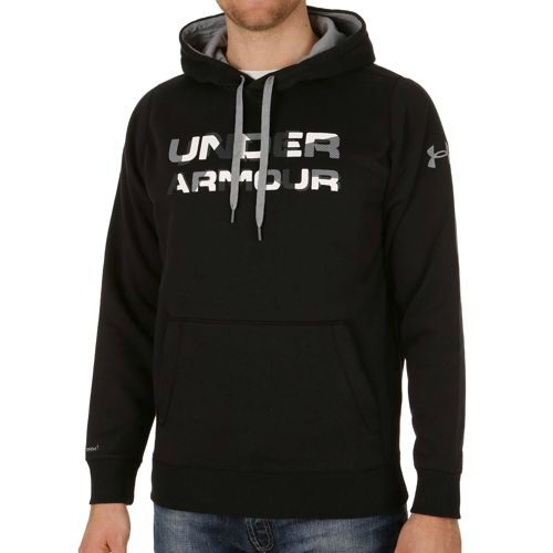 Under Armour Storm Rival Fleece Graphic Hoody Men - Black, White