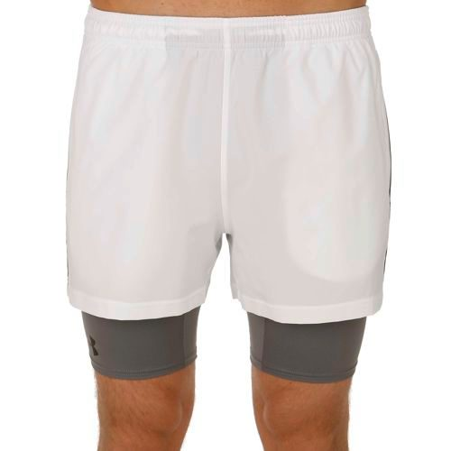 Under Armour 2-in-1 Trainer Shorts Men - White, Grey