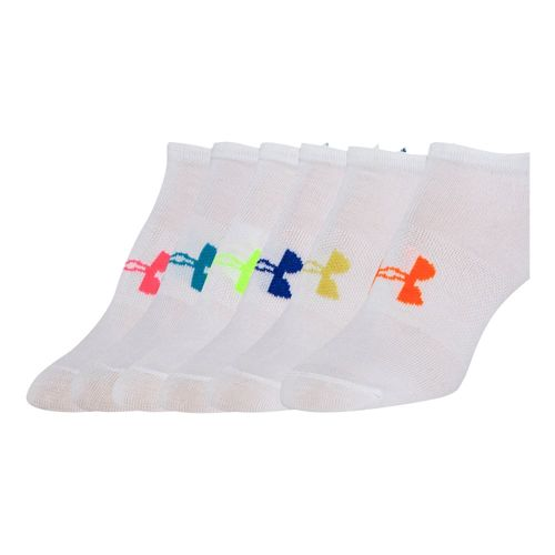 Under Armour Liner No Show Sports Socks 6 Pack - White