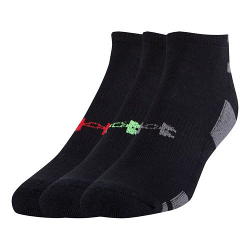 Under Armour Heatgear No Show Pack Tennis Socks 3 Pack - Black