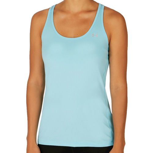 Under Armour Heatgear Race Tank Top Women - Light Blue, Silver