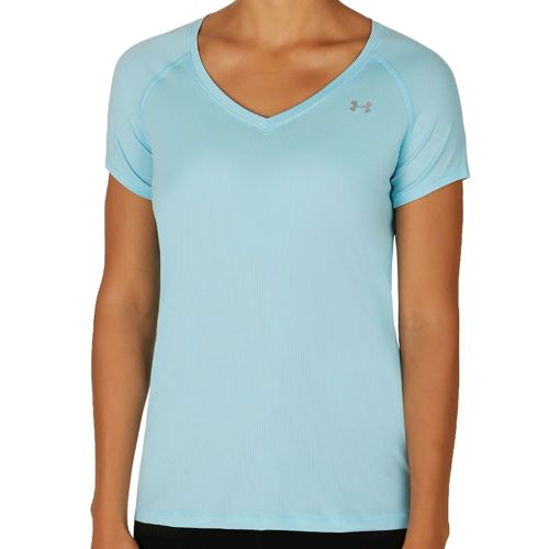 Under Armour Heatgear Short Sleeve Women - Light Blue, Silver