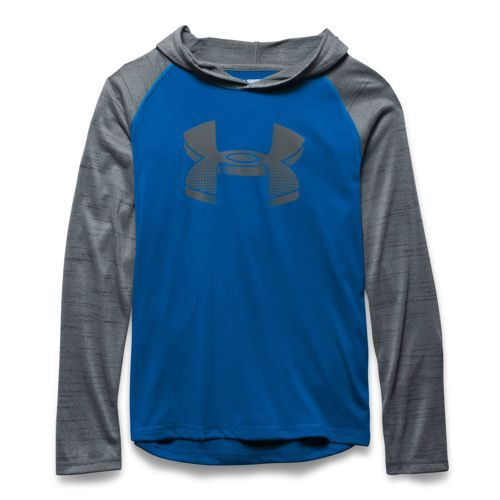 Under Armour World Of Tech Hoody Boys - Blue, Dark Grey