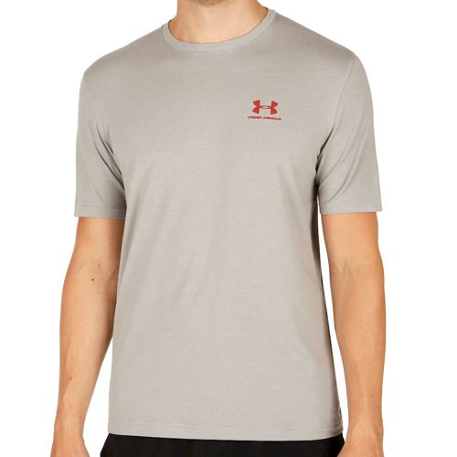 Under Armour Charged Cotton Left Chest Lockup T-Shirt Men - Grey, Red