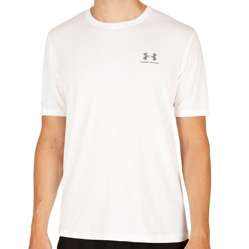Under Armour Charged Cotton Left Chest Lockup T-Shirt Men - White, Grey