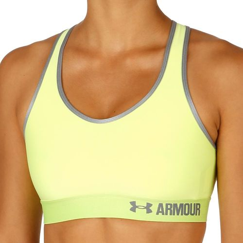 Under Armour Mid Solid Sports Bras Women - Neon Yellow