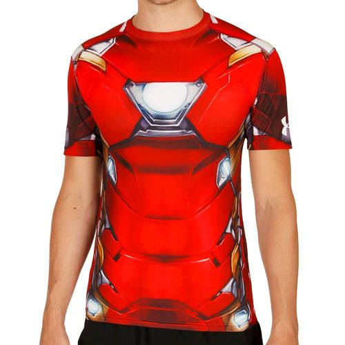 Under Armour Iron Man Compression T-shirt Men - Red