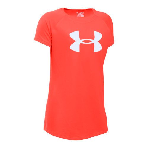 Under Armour Solid Big Logo T-Shirt Girls - Orange