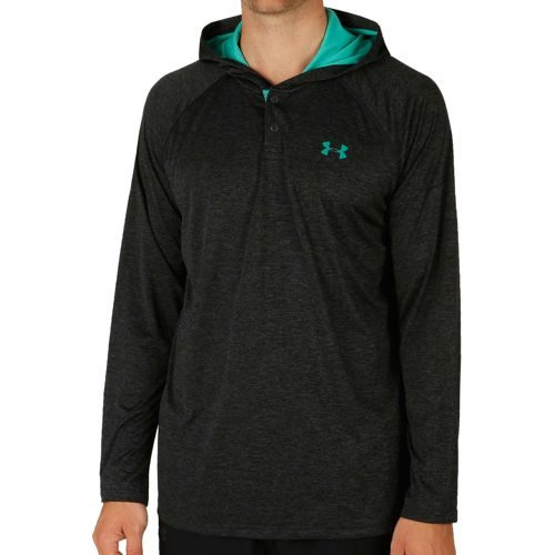 Under Armour Tech Popover Henley Hoody Men - Grey
