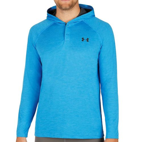 Under Armour Tech Popover Henley Hoody Men - Blue