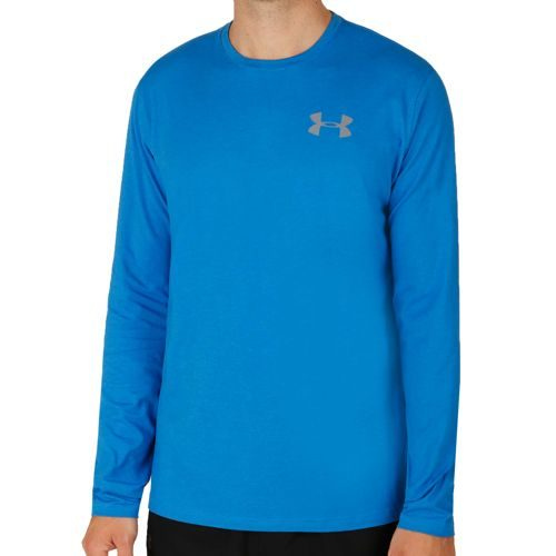 Under Armour Vertical Wordmark Long Sleeve Men - Blue