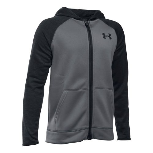 Under Armour Storm Rival Cotton Jogger Training Jacket Boys - Grey, Black