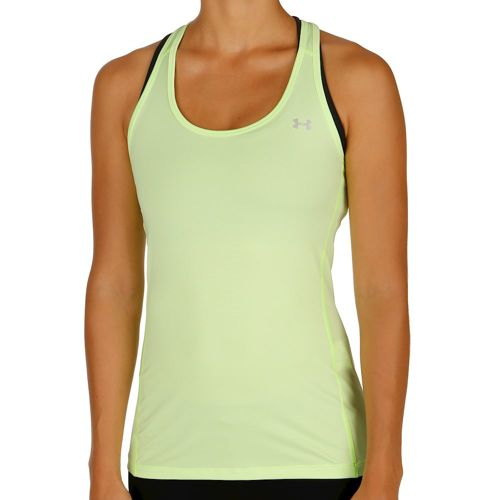 Under Armour Armour Stripe Racer Tank Top Women - Lime, Silver