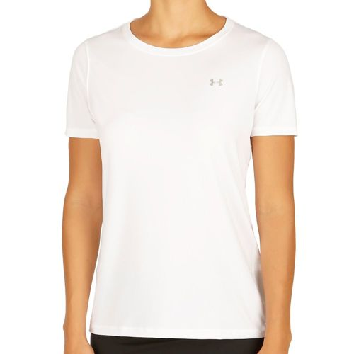 Under Armour Heatgear T-Shirt Women - White, Silver