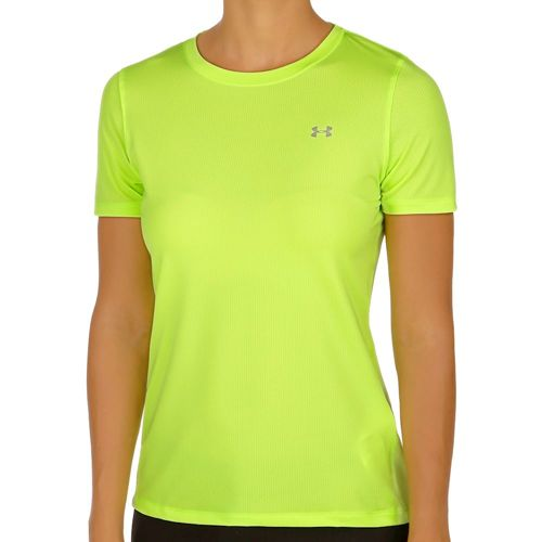 Under Armour Heatgear T-Shirt Women - Neon Yellow