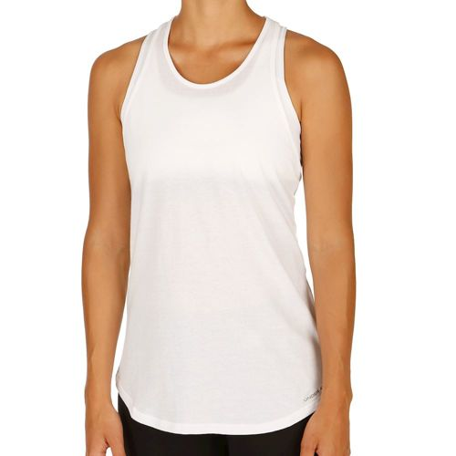 Under Armour Charged Cotton Microthread Keyhole Tank Top Women - White