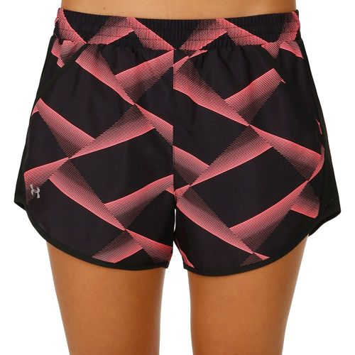 Under Armour Fly By Printed Shorts Women - Dark Blue, Lightred