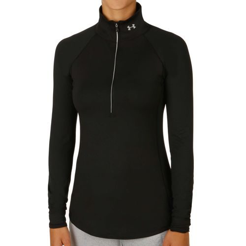 Under Armour Layered Up 1/2 Zip Long Sleeve Women - Black