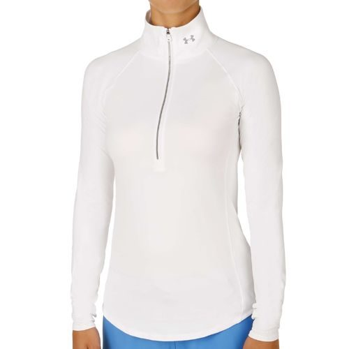 Under Armour Layered Up 1/2 Zip Long Sleeve Women - White