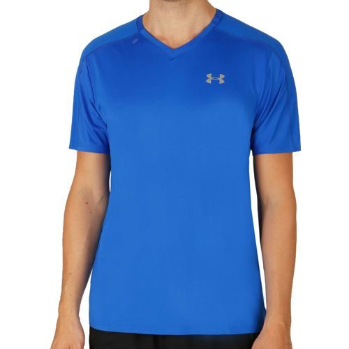 Under Armour Coolswitch Run V-Neck T-Shirt Men - Blue