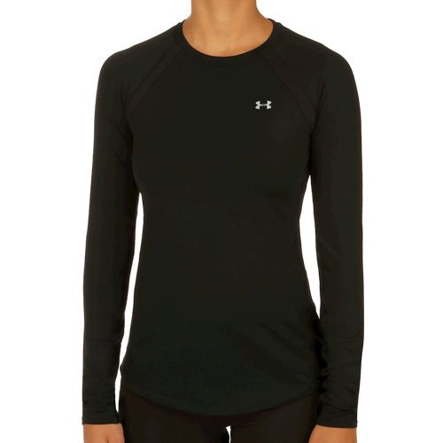 Under Armour Coldgear Crew Compression Long Sleeve Women - Black, Silver