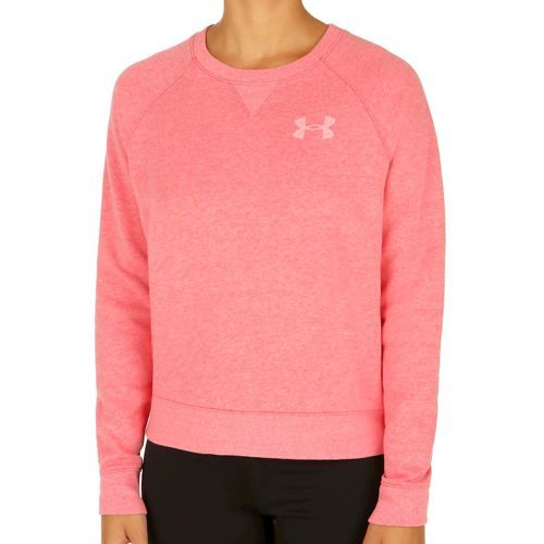 Under Armour Favorite Fleece Crew Sweatshirt Women - Red, White
