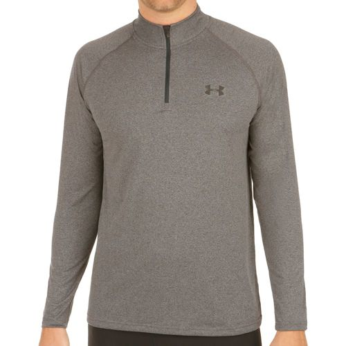 Under Armour Tech 1/4 Zip Long Sleeve Men - Dark Grey, Black