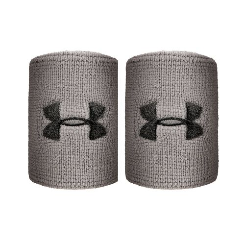 Under Armour Performance Wristband 2 Pack Men - Grey, Black