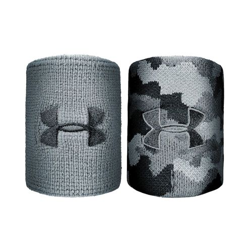Under Armour Jacquard Wristband 2 Pack - Black, Silver