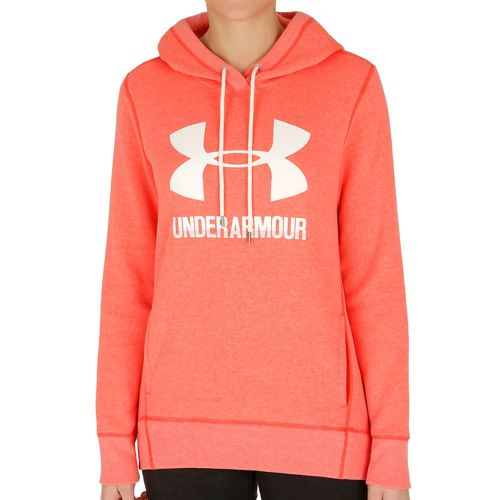 Under Armour Favorite Fleece Hoody Women - Lightred, White