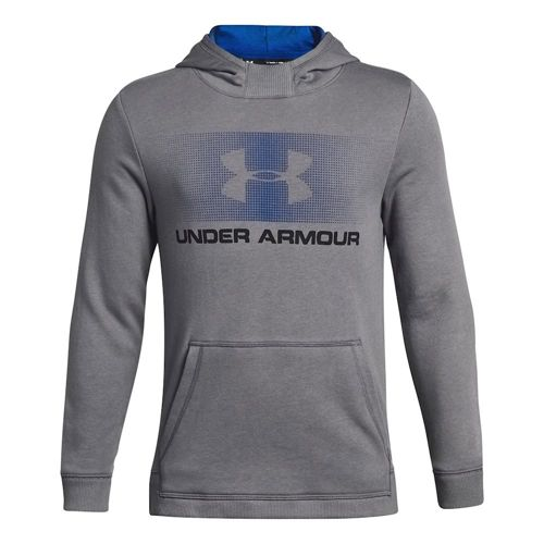 Under Armour Cotton French Terry Hoody Boys - Grey, Blue