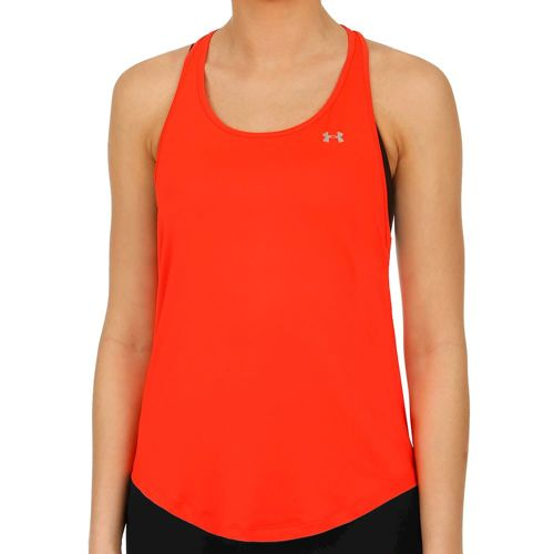 Under Armour Heatgear Mesh Back Tank Top Women - Coral, Silver