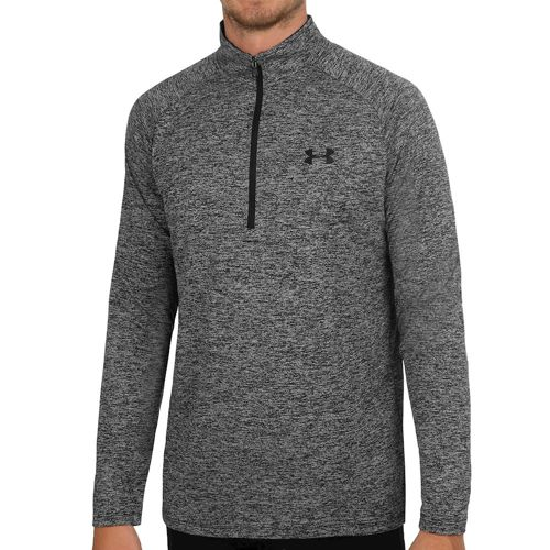 Under Armour Tech 1/2 Zip Long Sleeve Men - Black, Dark Grey
