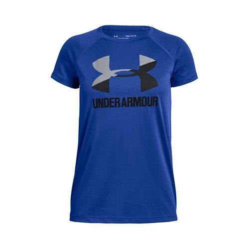 Under Armour Big Logo Solid T-Shirt Girls - Blue, Dark Blue
