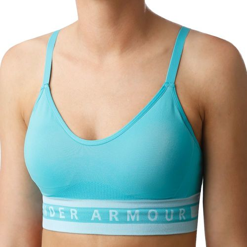 Under Armour Seamless Longline Sports Bras Women - Turquoise, Silver