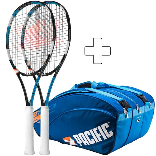 Pacific 2 X X Force Pro Lite No.1 Strung, Plus Tennis Bag