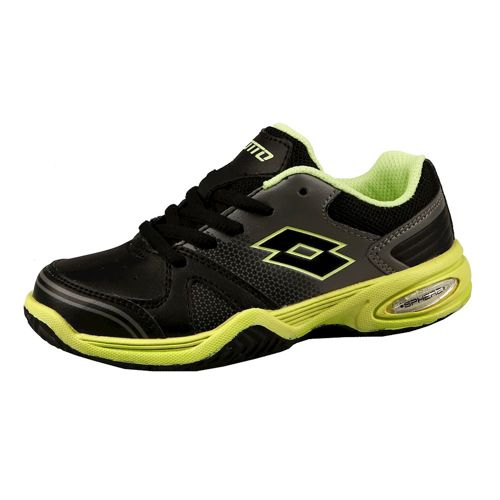 Lotto T-Strike All Court Shoe Kids - Black, Yellow